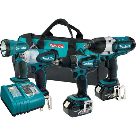 makita 18 volt lxt lithium ion cordless combo kit 4 tool