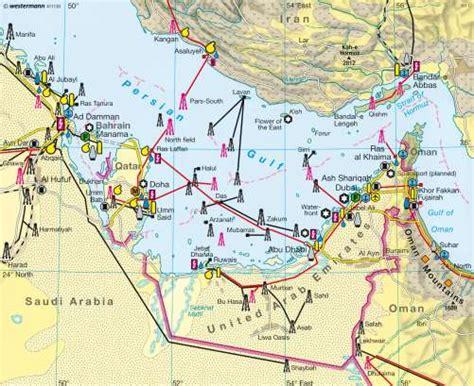 map of arab gulf states maps arab states of the gulf economy diercke