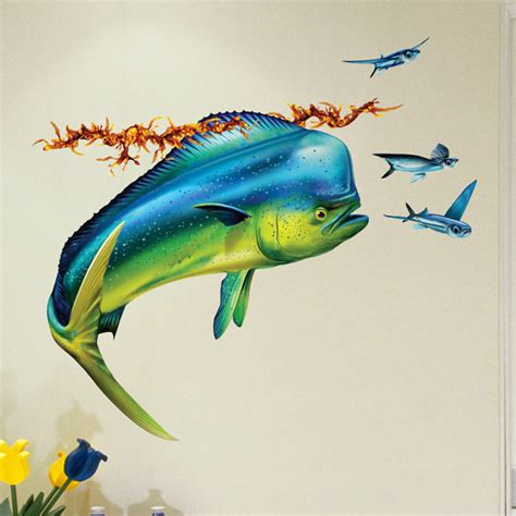 mahi mahi dolphin fish wall decal bold wall art