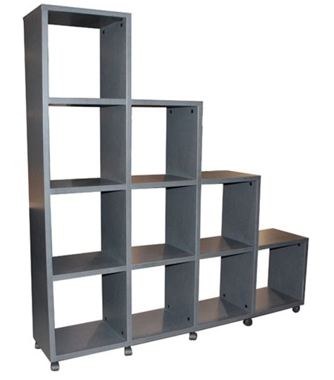 academy cube bookcase stepped