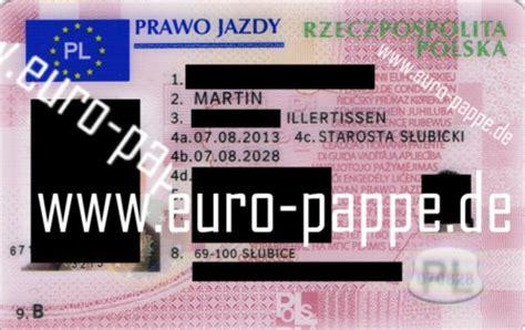 Führerschein Motorrad Im Ausland by Referenzen Original Eu Fuehrerschein Polen 2013 Pl