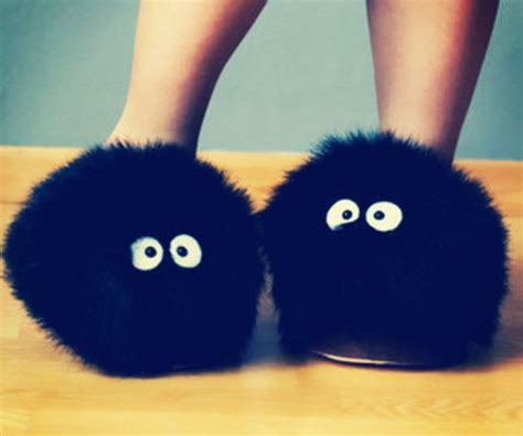 soot sprite slippers totoro soot sprite slippers