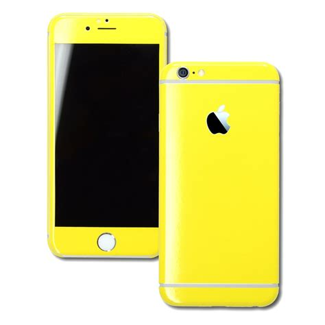 iphone 6 glossy lemon yellow skin wrap easyskinz