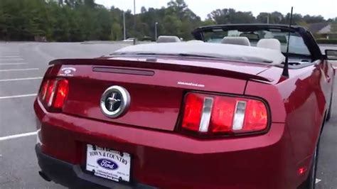 Automatik V6 Mustang by 2011 Ford Mustang V6 Premium Convertible Automatic Youtube