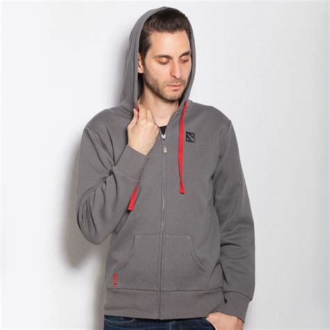 Jaket Zipper Hoodie Sweater Jumpet International Dota 2 dota 2 grey hoodie 2016