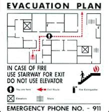 fire and emergency evacuation procedures valentine