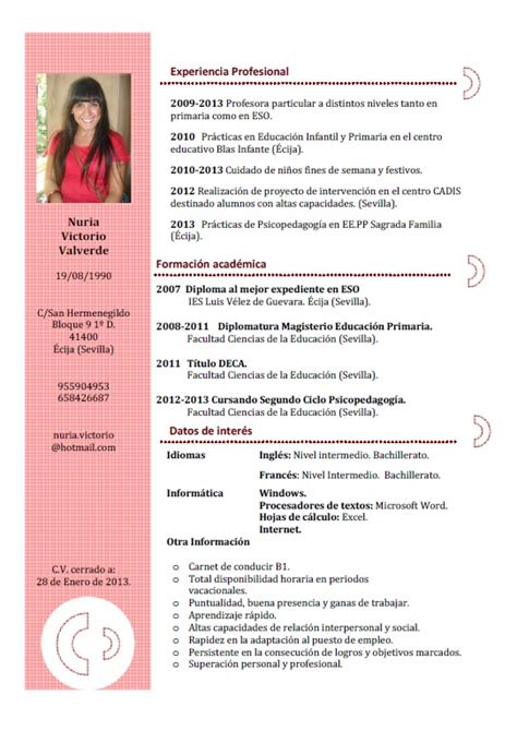 Plantilla De Como Hacer Un Curriculum Vitae Quelques Liens Utiles
