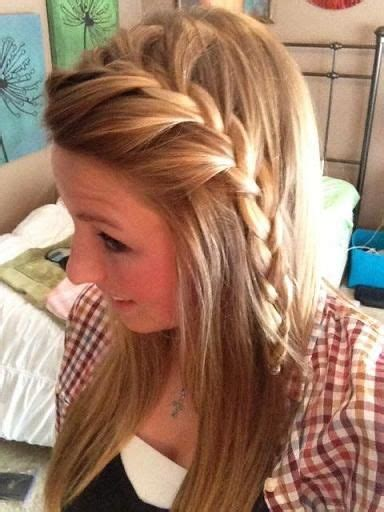 how to french braid your own bangs the easy way french braided bangs french and bangs on pinterest