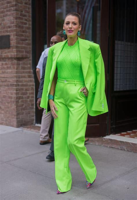 kim kardashian wearing neon fashion trend popsugar