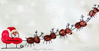 santa s sleigh w flying reindeer fingerprint craft for