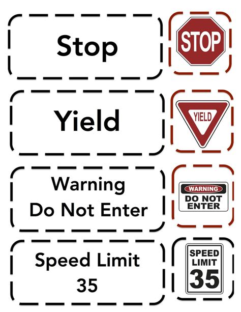 Safety Signs Worksheets by Sign Printable Preschool Printables