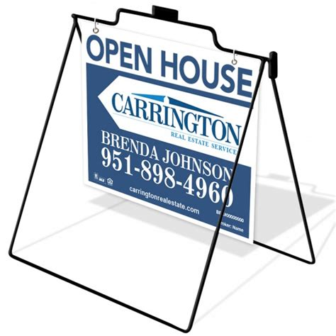 real estate a frame open house signs 18x24 wire a frame 1 open house carrington real estate services by company