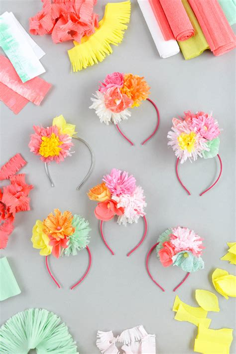 How To Make Paper Headbands - paper flower headband diy