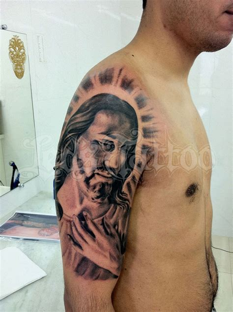 jesus arm tattoo designs half sleeve jesus for tattoos book
