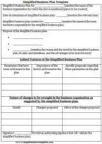 Simplified Business Plan Template by Simplified Business Plan Template Sle Business Templates