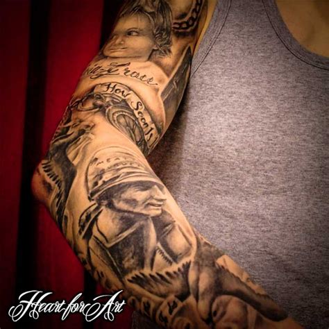 tattoo sleeve family theme heart for art tattoo shop manchester blog heart
