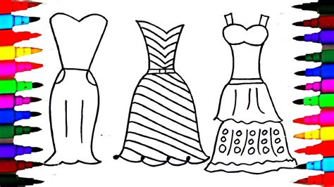 coloring pages dresses for l polkadots drawing pages