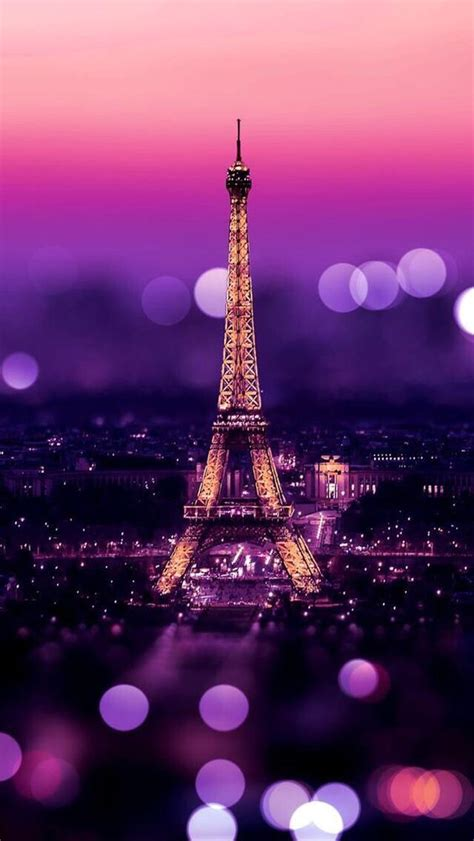 wallpaper for iphone 5 paris eiffel tower night bokeh lights iphone 5 wallpaper