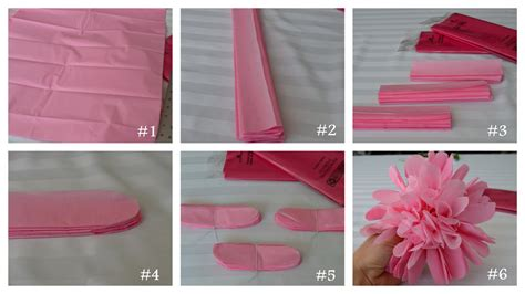 How To Make A Tissue Paper Step By Step - inspired living tissue paper flower tutorial