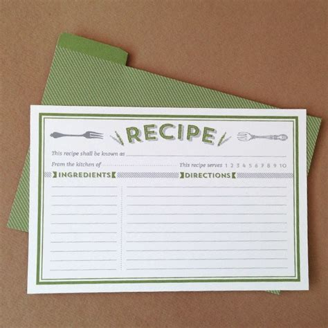 page editable from the kitchen of recipe card template printable recipe cards pdf instant templates