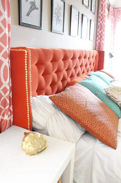 coral headboard picture of wingback nailhead trim coral tufted headboard
