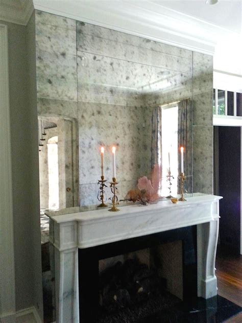 mirror mirror on the wall 8 fireplace decorating ideas delightfully noted antiqued mirror tiles with rosettes roselawnlutheran