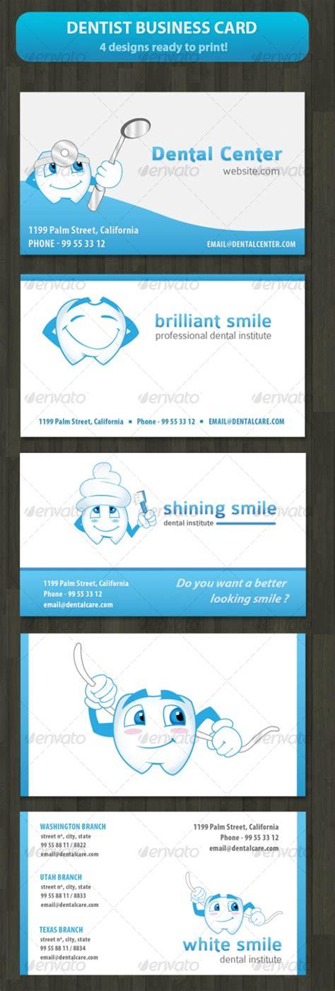 dentist business card template cardview net business card visit card design