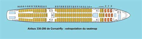 plan siege air corsairfly airbus a330 200 plan si 232 ges hublots