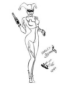 Harley Quinn Mask Coloring Pages sketch template