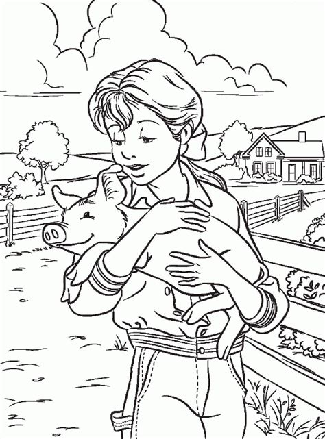 free coloring pages of charlottes web characters