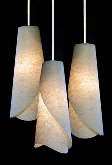 Handmade Paper Lights - handmade paper pendants ceiling lights from ambientart