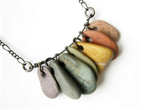 rock jewelry jewelry rainbow necklace rock collections