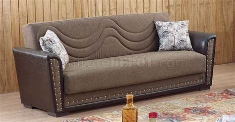 Toronto Sofa Bed In Brown Fabric By Empire W Options Toronto Sofa Bed