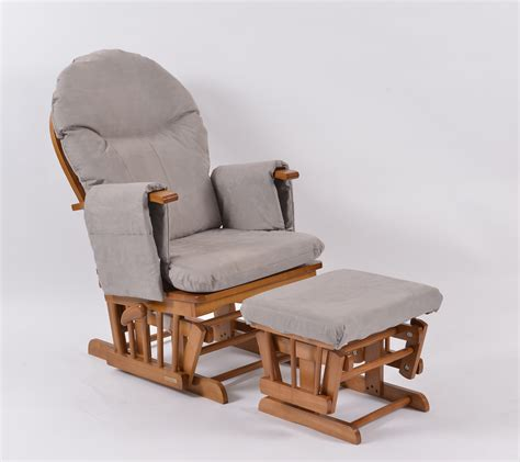 habebe recliner glider chair habebe glider chair stool oak wood grey washable