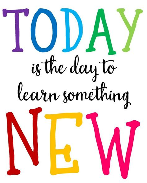 The Day Something To by Today Is The Day To Learn Something New Poster