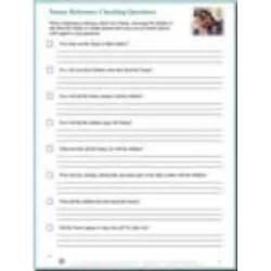 nanny questions sheet