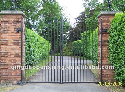 iron gate design for house double iron gate design park house or school gate simple wrought iron gate view gate