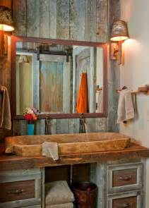 Rustic Bathroom Vanity Ideas by 5 Ultra Rustic Bathrooms