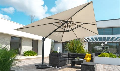 Parasol Inclinable by Parasol Alu Inclinable Pied D 233 Port 233 Groupon Shopping
