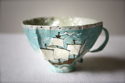 How To Make Paper Tea Cups - modern handmades paper mache tea cups