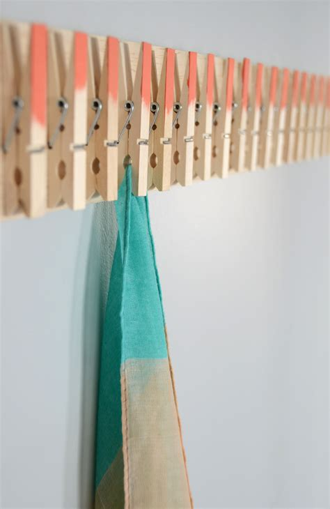 How To Make A Hanger Holder - easy diy clothespin scarf holder