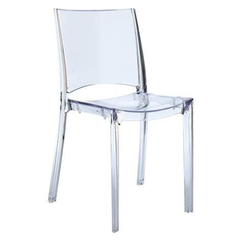 Plastic Dining Chairs Uk Verne Clear Plastic Stackable Dining Chair Buy Now At Habitat Uk