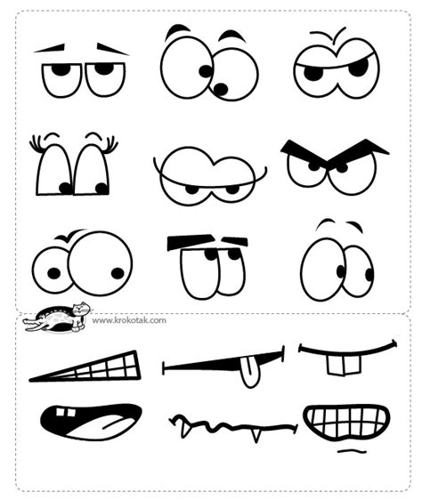 printable eyes and mouth template for eyes and mouths pap 237 rmunk 225 k pinterest