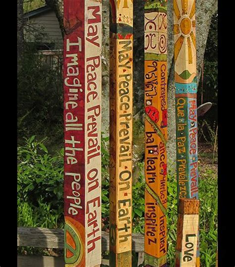 how to make a peace pole 25 best ideas about peace pole on lawn and garden sculptures