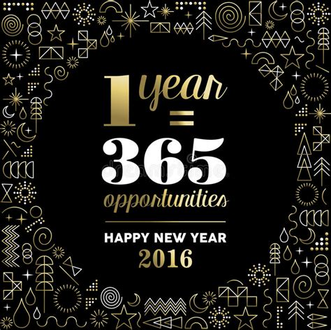 new year element free new year 2016 inspiration quote poster gold stock vector