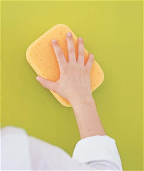 how to clean flat paint walls sponge