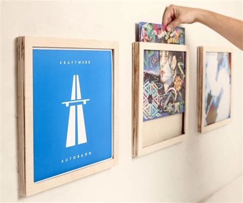 Great Idea For Cheap Wall Album Covers In 25 Best Ideas About Vinyl Record Display On