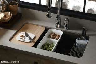 kitchen sink with cutting board for the home