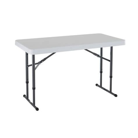 lifetime 4 foot table lifetime 4 foot commercial adjustable folding table