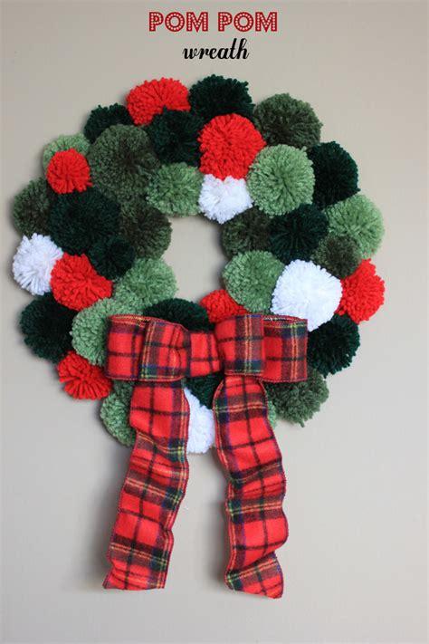 pom pom wreath bewhatwelove